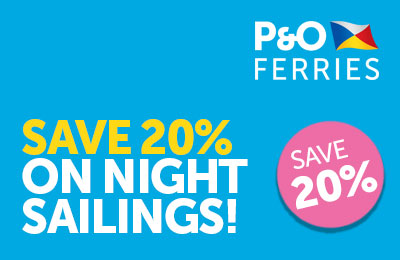 20% Off Night Sailings Dover-Calais with P&O Ferries