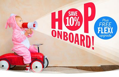 Save 10% + FREE Flexi Upgrade with Stena Line!