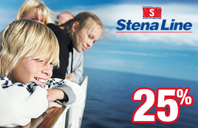 25% off to Ireland and Britain with Stena Line